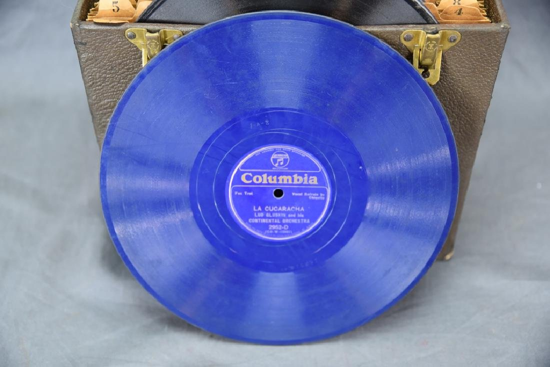Box 40 Big Band 78 Records, 2 Columbia Blue Vinyl - 7