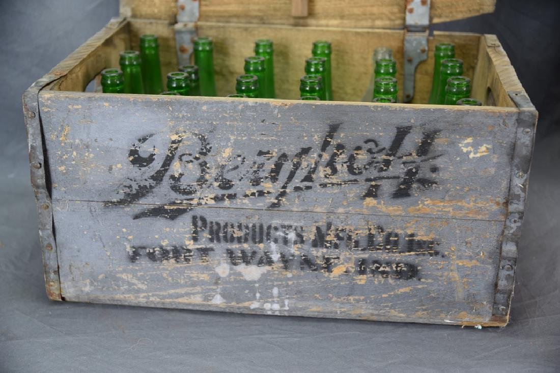 Berghoff Chicago Beer Crate w/ 24 Glass Bottles - 2