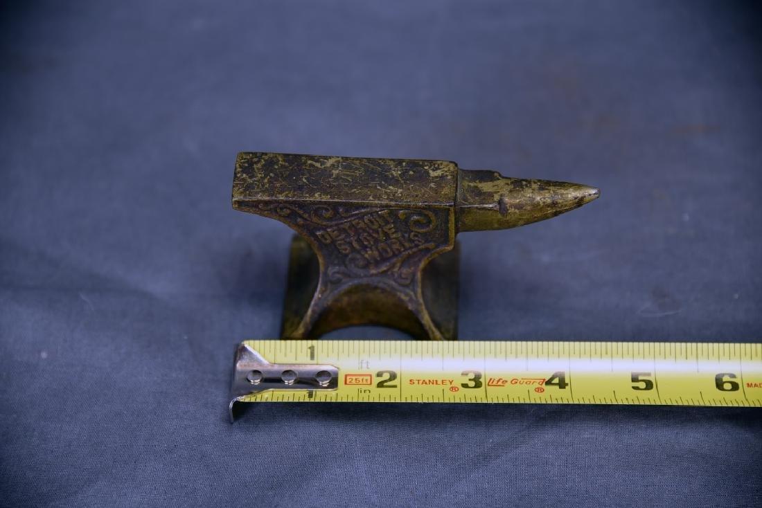 6 Small Anvils, Iron, Brass, Bronze - 5