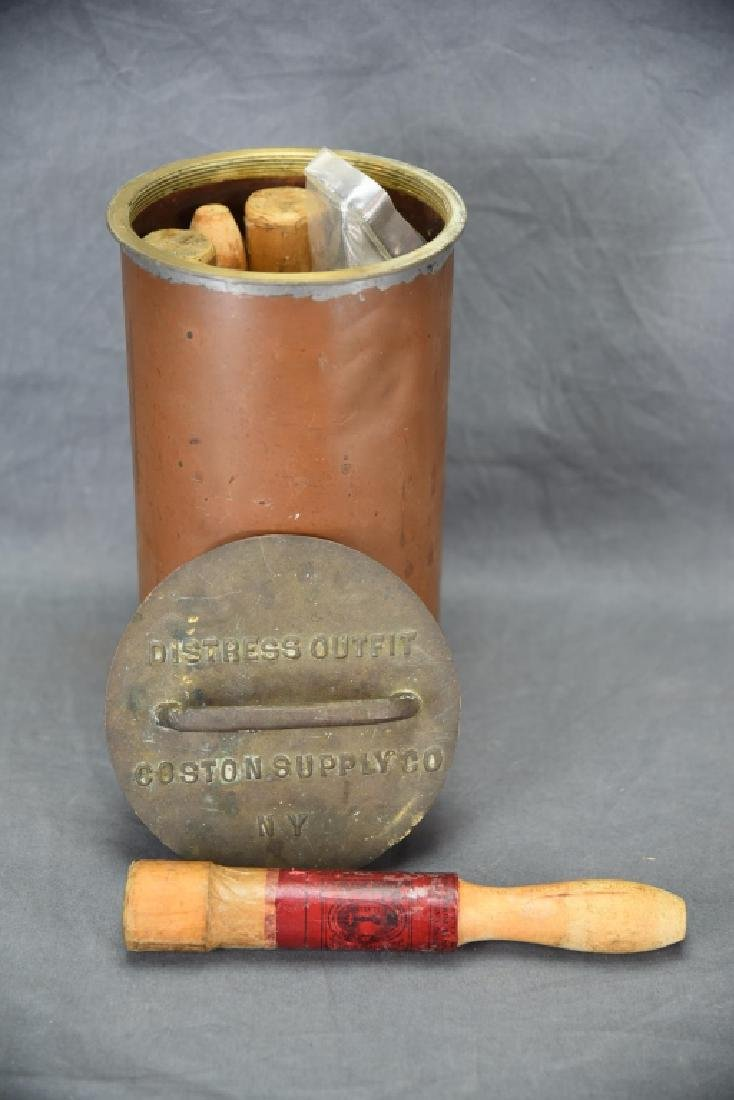 Copper Nautical Flare Emergency Cannister