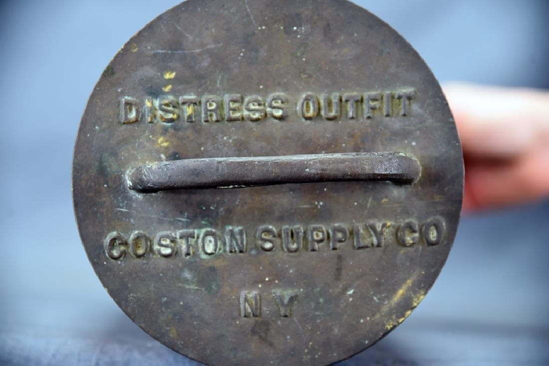 Copper Nautical Flare Emergency Cannister - 4