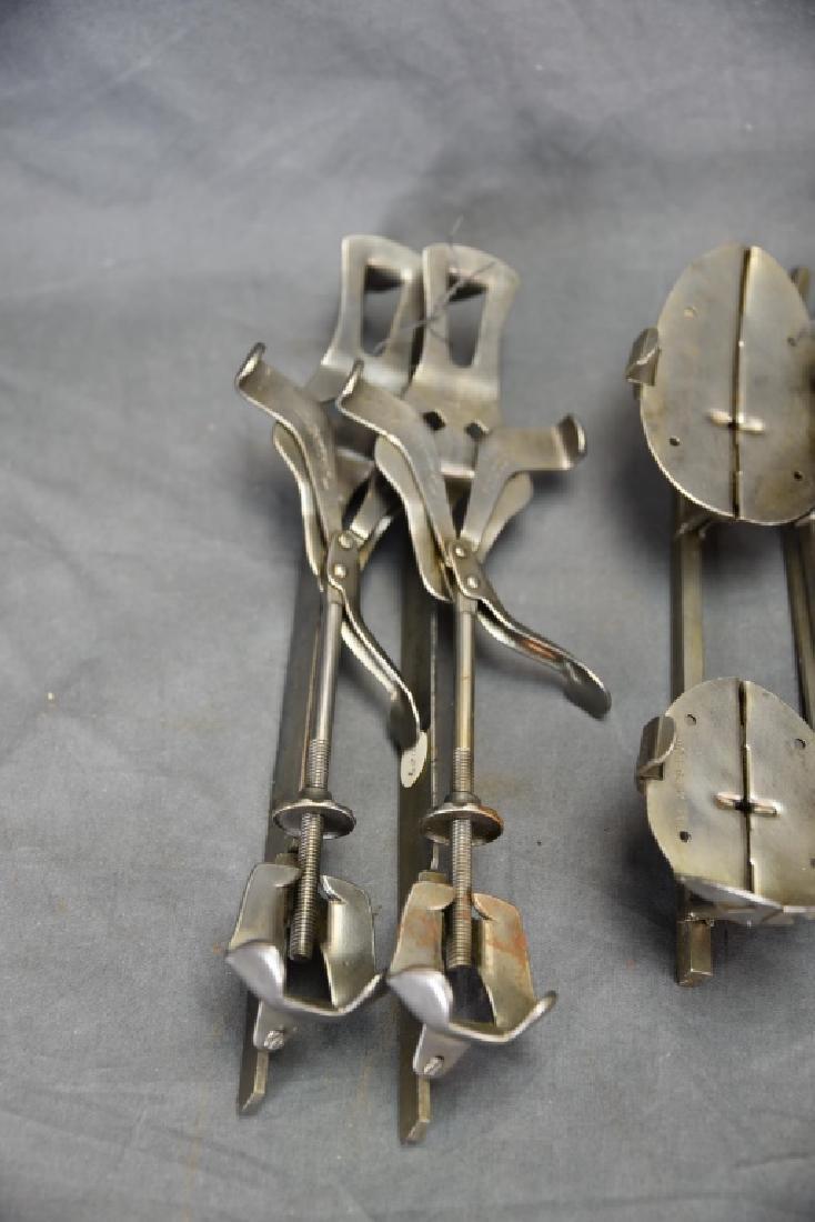 6 Pairs Antique Adjustable Ice Skates - 2
