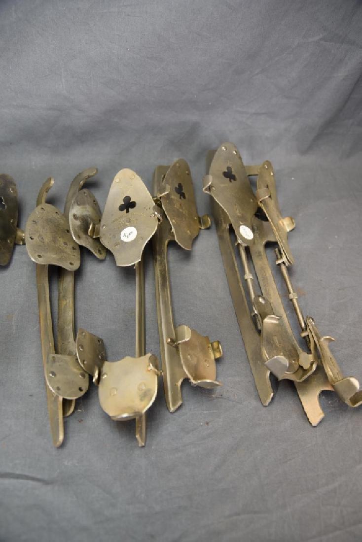6 Pairs Antique Adjustable Ice Skates - 4