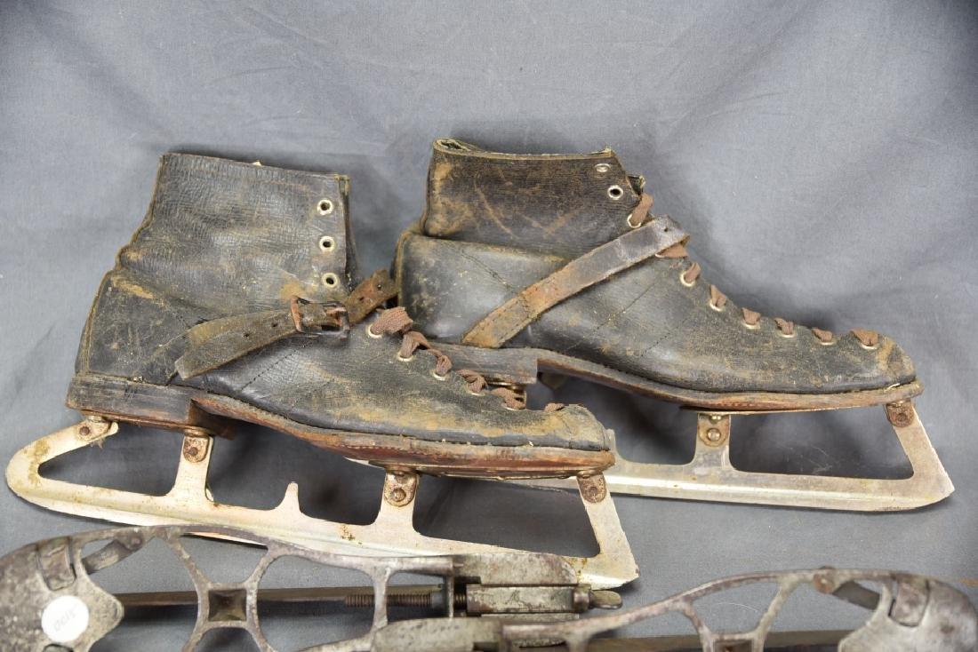 4 Pairs Antique Ice Skates, 1 Adjustable - 2