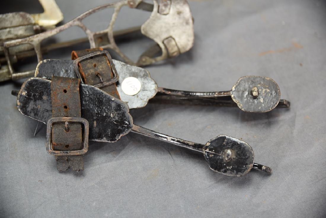 4 Pairs Antique Ice Skates, 1 Adjustable - 4