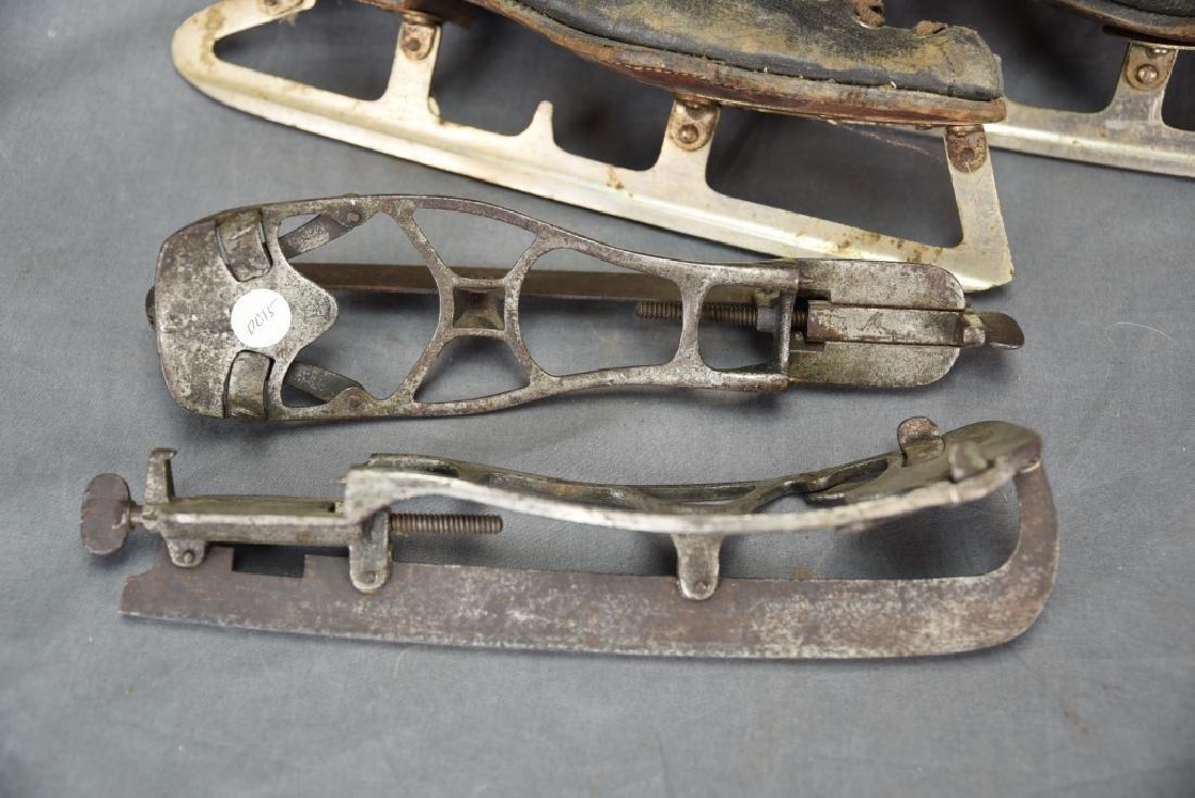 4 Pairs Antique Ice Skates, 1 Adjustable - 5