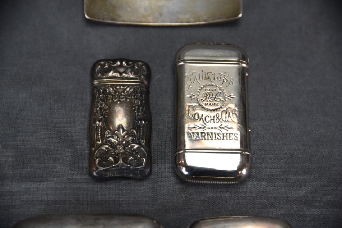 4 Sterling Cases, 2 Cigarette, 1 card, 1 Vesta - 8