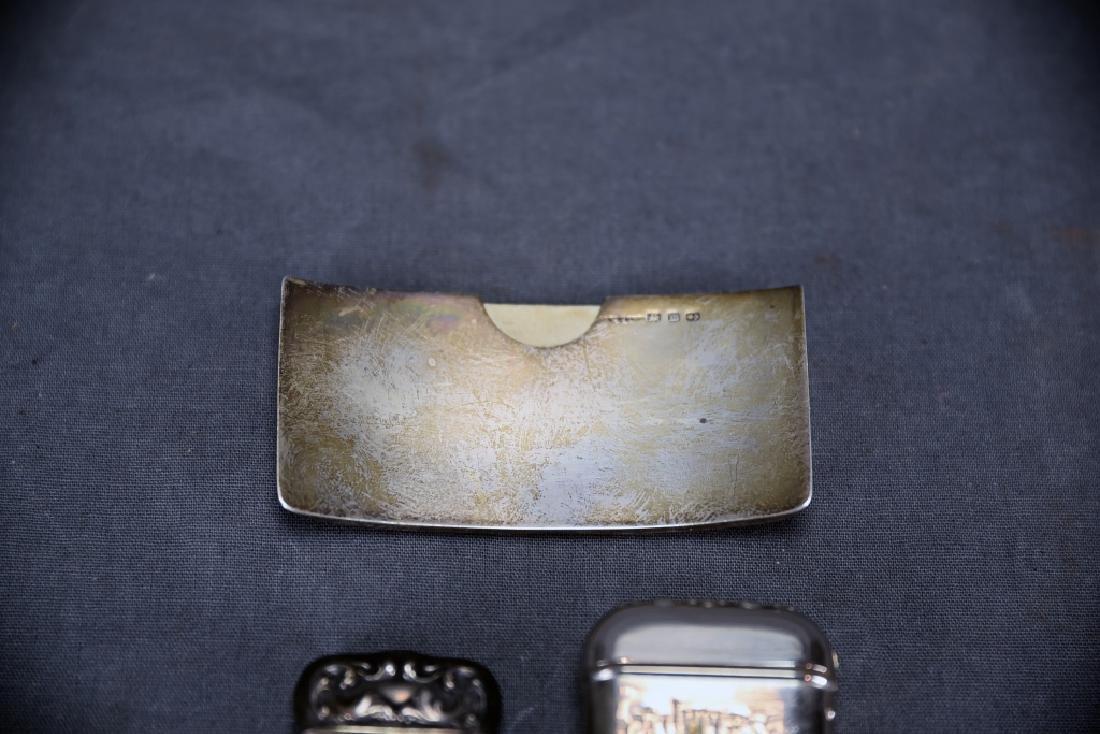 4 Sterling Cases, 2 Cigarette, 1 card, 1 Vesta - 9