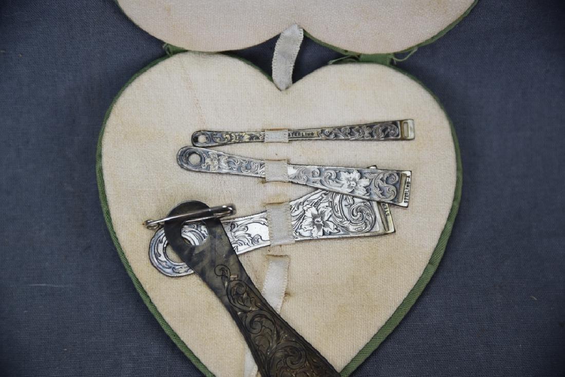 Set of 4 Engraved Sterling Ribbon Bodkins - 3