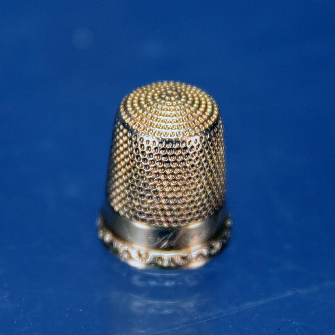 14 K Gold Thimble