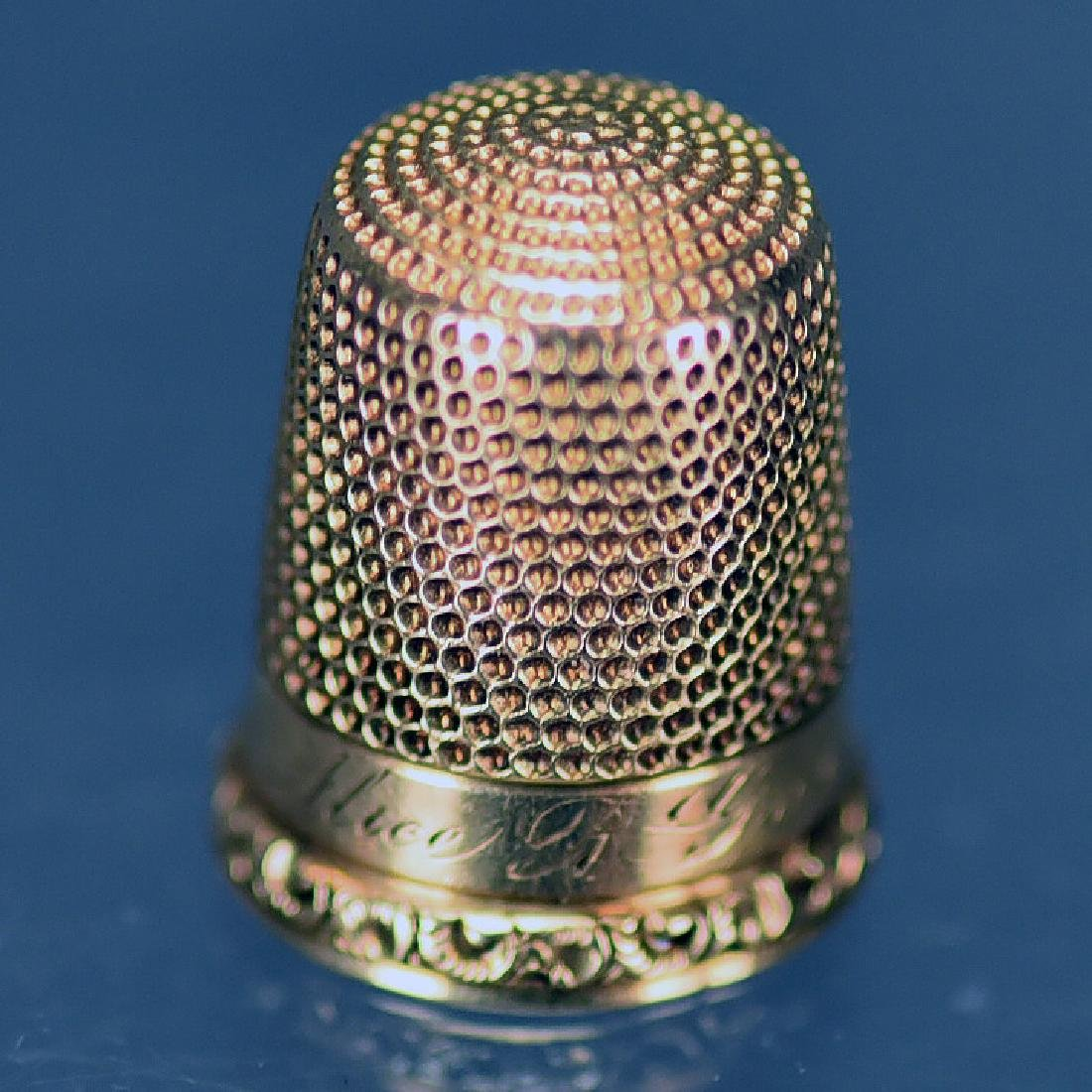 14 K Gold Thimble - 3