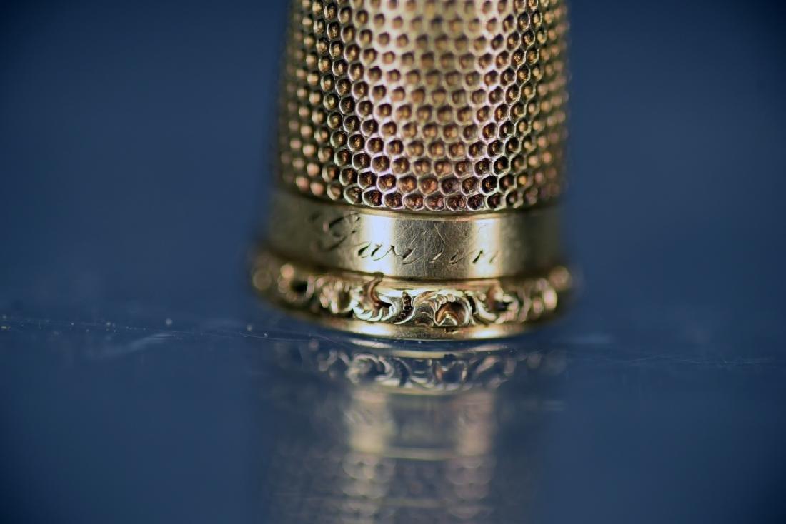 14 K Gold Thimble - 4