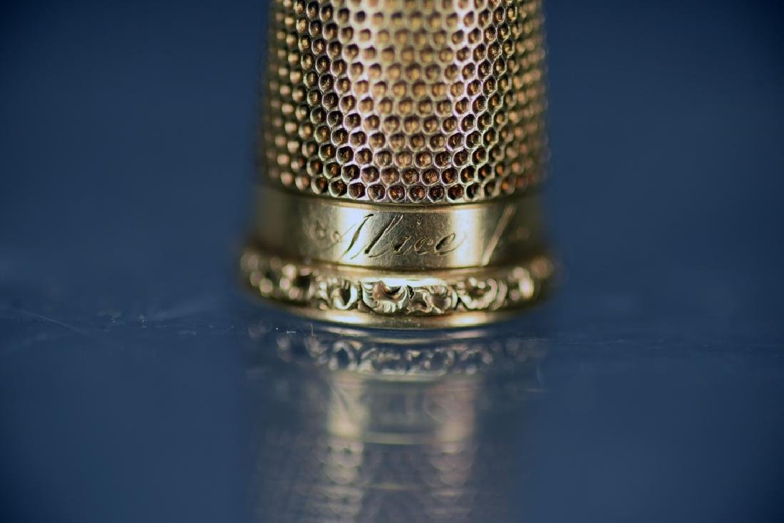 14 K Gold Thimble - 5