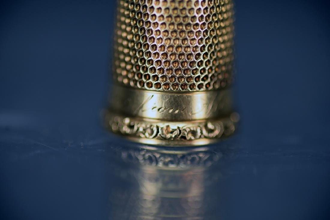 14 K Gold Thimble - 6