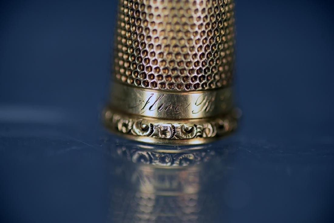 14 K Gold Thimble - 7