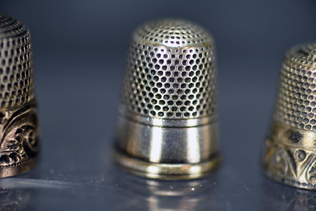 5 Sterling Silver Thimbles, Thimble Earrings - 10