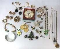 Vintage Costume Jewelry KJL, Swoboda, Weiss...