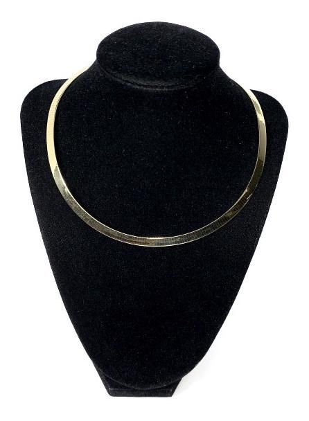 14 K Yellow Gold Omega Slide Necklace