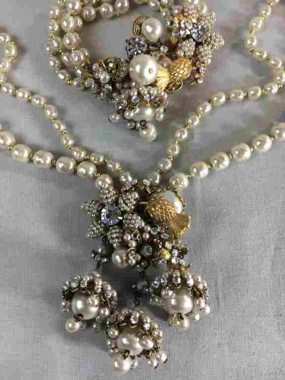 Miriam Haskell Baroque Pearl Necklace, Bracelet