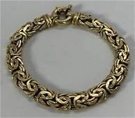 18 K Yellow Gold Chain Bracelet