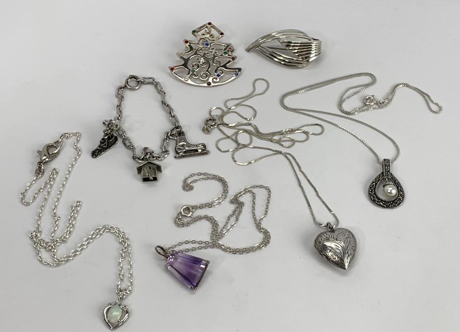 Opal Diamond Necklace, Locket, Charm Bracelet...