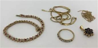Sapphire Pendant Tourmaline Tennis Bracelet