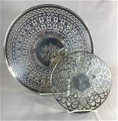 Vintage Sterling Silver Pierced Tray and Trivet