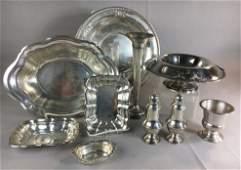 Large Group of Vintage Sterling Silver Tableware