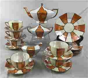 Art Deco Lustreware Tea Set Takito Co 1930s The Takito