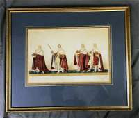 Coronation of King George IV Aquatint Etching 1821