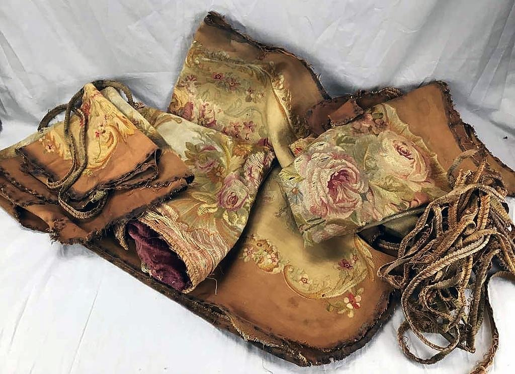 6 Pieces Aubusson Tapestry Upholstery