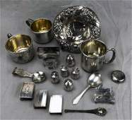 """Collection of Antique Sterling Silver """"Smalls"""""""
