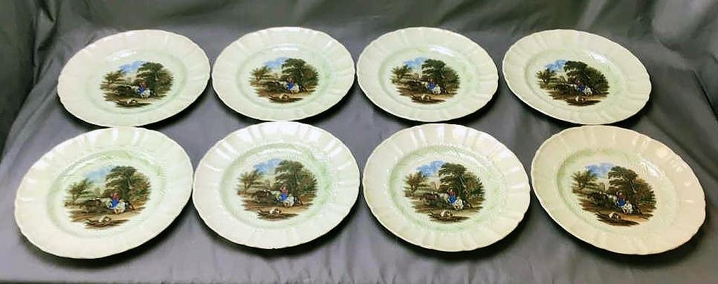 Set of 8 Mason's Patent Ironstone Plates