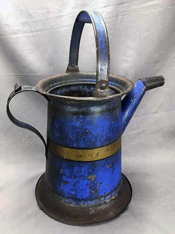 Antique Tin Tole Watering Can, Original Paint