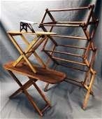 3 Antique Toy Ironing Boards Drying Rack