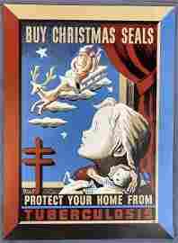 Original Andre Szenes Dugo Christmas Seals Poster