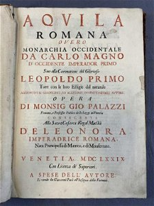 Aquila Romana, Giovanni Palazzi, 1679 First Ed.