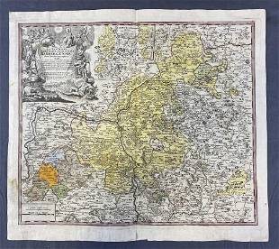 Antique Map of Bamberg Germany