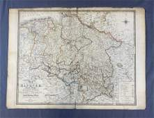 Map of the Kingdom of Hanover Dated 1843