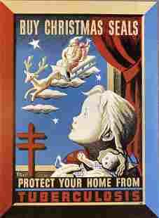 2 Andre Szenes Dugo 1943 Christmas Seals Posters