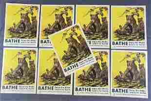 9 Original Charles Livingston Bull TB Posters