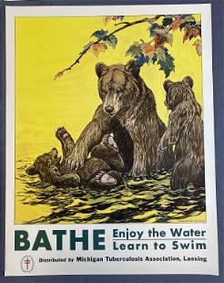 8 Original Charles Livingston Bull TB Posters