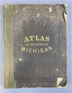 Atlas of the State of Michigan 1873 Tackabury