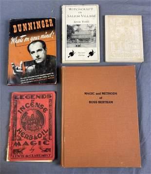 5 Vintage Books - Magic, Witchcraft, Telepathy...
