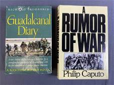 1st Eds. Guadalcanal Diary and A Rumor of War