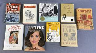 9 Signed Books with a Detroit MI Connection