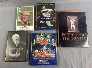 5 Signed Books on Detroit Tiger Baseball