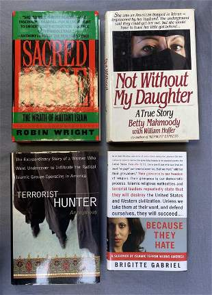 4 Author signed Books, 3 First Editions