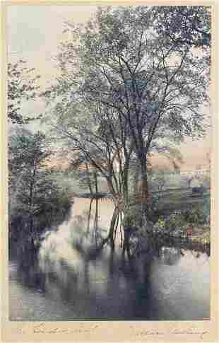 """Wallace Nutting Print """"The Linden Leaf"""" Signed"""