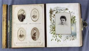 Victorian Photo Album with 65 Photos